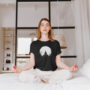 Naiste t-särk tshirt must Jooga yoga blacksunset eesti disain