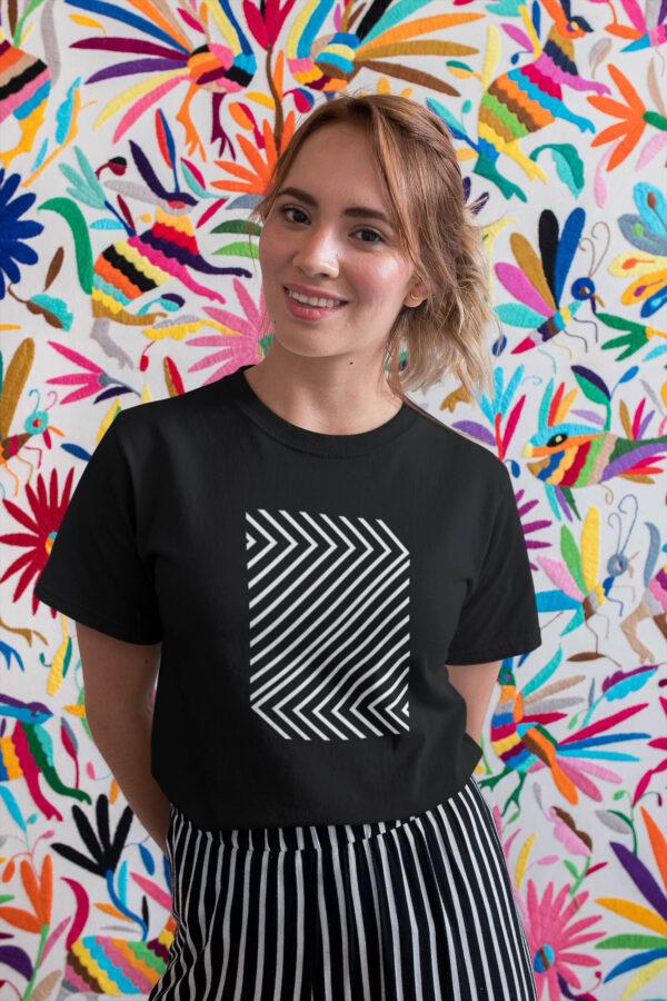 Naiste must T-särk Minimalistlik 2 minimal blacksunset eesti disain