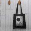 Minimalistlik Helkurkott kangastkott riide kott tote bag blacksunset eesti disain