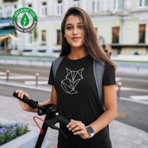 Naiste T-särk Rebane Origami Orgaaniline