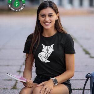 naiste t-särk must rebane Orgaanilisest puuvillast blacksunset eesti disain