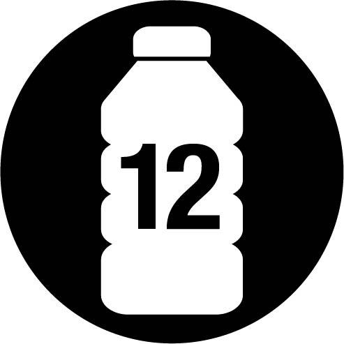 taaskasutatud pudelid