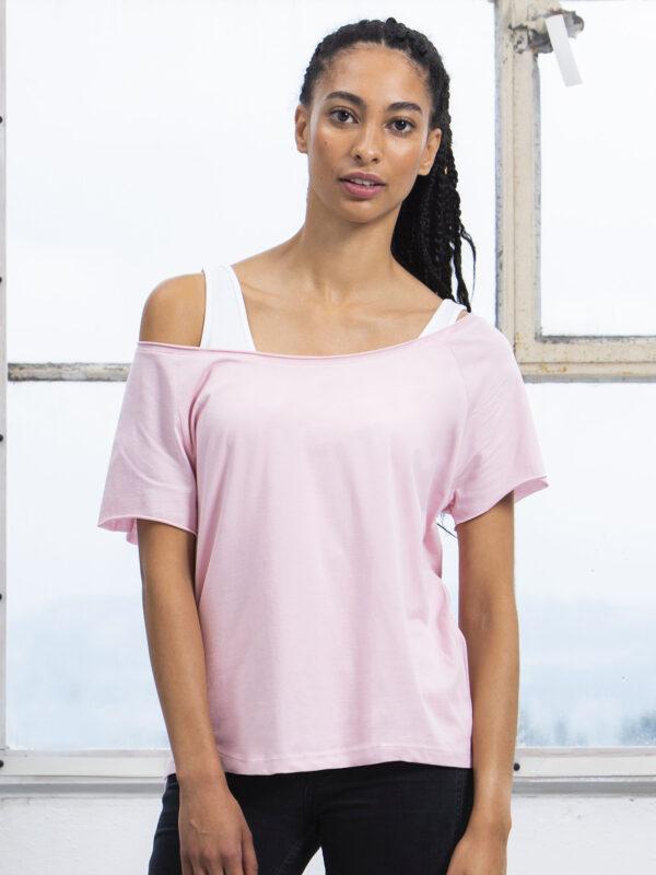 Roosa naiste suure kraega särk Zumba trenni särk
